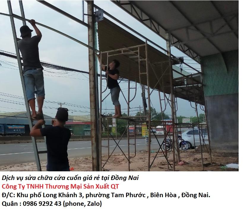 Sửa chữa cửa cuốn uy tín tại Đồng Nai
